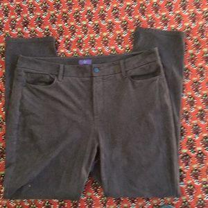 Pants - Dark brown suede cloth pants